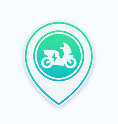 electric scooter icon on map pointer vector image