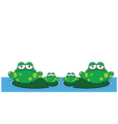 Family of frogs vector