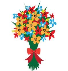 Festive bouquet vector