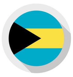 flag bahamas round shape icon on white vector image