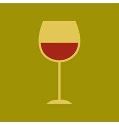 Flat icon on stylish background glass wine vector