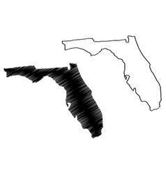 florida map vector image