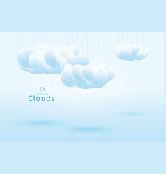 Foamy clouds lite blue abstract background vector