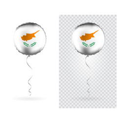 foil round shaped balloons in as cyprus national vector image