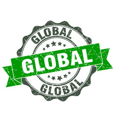 global stamp sign seal vector image