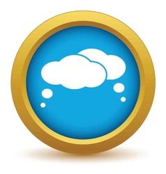 Gold dialog icon vector image