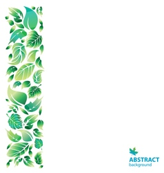 green leaves on transparent background vector image