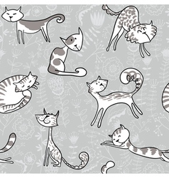 Grey cats vector