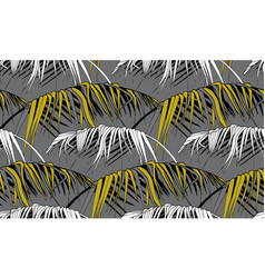grey tropical prints in monochromes with banana vector image