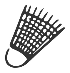 Hand drawn plastic shuttlecock vector image