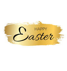 happy easter background black calligraphic text vector image