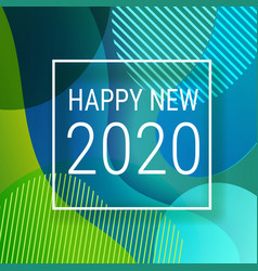 happy new 2020 eps10 design template vector image