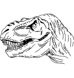 Head dinosaur vector