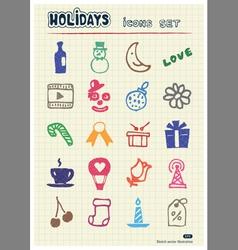 Holidays and celebration web icons set vector image