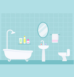 Indoor bathroom interior vector