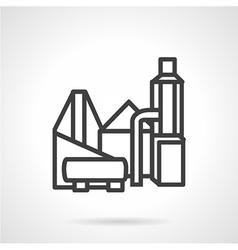 Industrial building flat line icon vector image