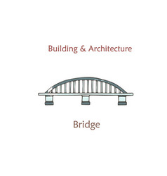 isolated bridge cartoon arch bridge in vector image