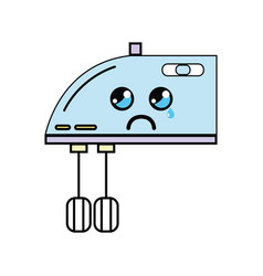 Kawaii cute crying mixer technology vector