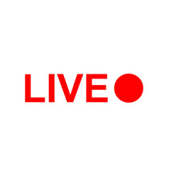 live online stream icon isolated vector image
