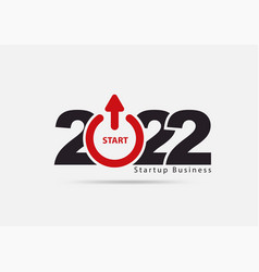 Logo 2022 new year startup business creative vector