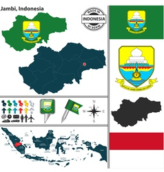 Map of Jambi vector