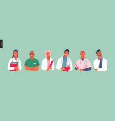medical insurance template -best doctors vector image