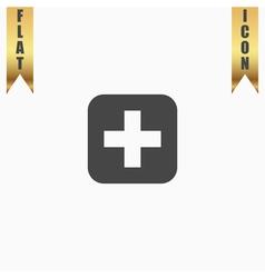 medicine flat icon vector image