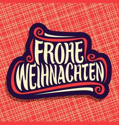 merry christmas in german language vector image