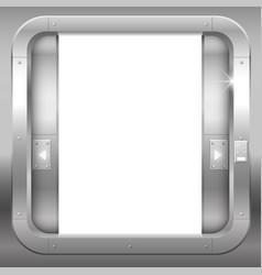 Metal open double doors vector
