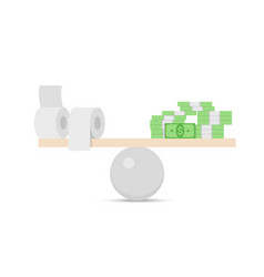 modern concept financial balance vector image