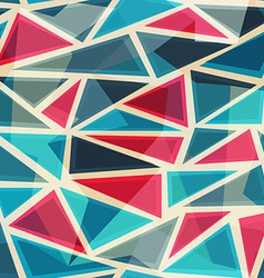 mosaic modern triangles seamless pattern vector image
