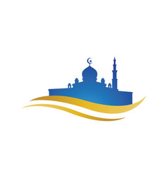 mosque design vector image
