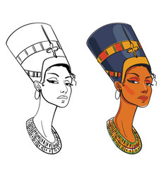 nefertiti vector image