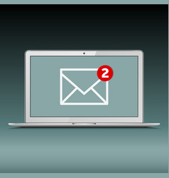 New email on the laptop screen vector