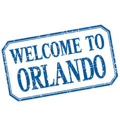 Orlando - welcome blue vintage isolated label vector