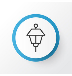 Park lamp icon symbol premium quality isolated vector