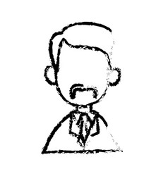 Portrait character doctor man sketch vector