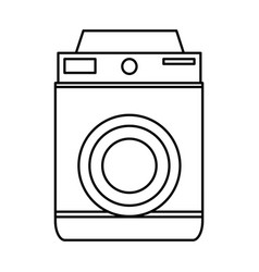 Retro photo camera lens equipment photography icon vector