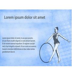 Rhythmic gymnast dancer sketch silhouette on the vector