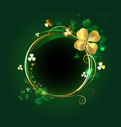 round banner with clover vector image