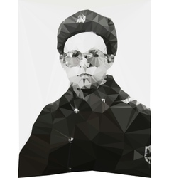 Russian soldier portrait winter form geometric vector image