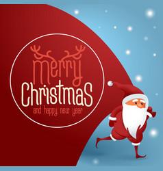 santa claus with a huge bag vector image