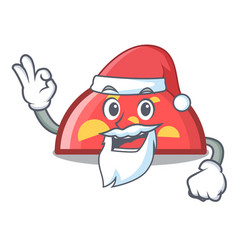 santa semicircle mascot cartoon style vector image