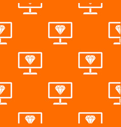 screen with diamond pattern seamless vector image