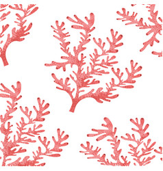 Seaweed pattern isolated icon vector