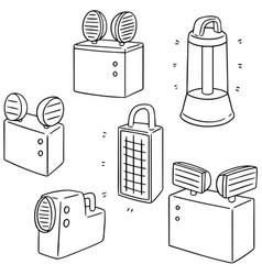 Set of emergency light vector