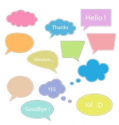 set of talking bubbles vector image