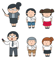 Set of teacher and student vector
