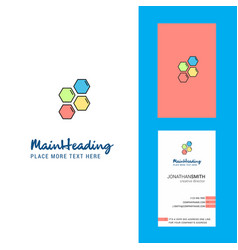 shells creative logo and business card vertical vector image