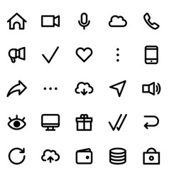 simple interface icons set vector image